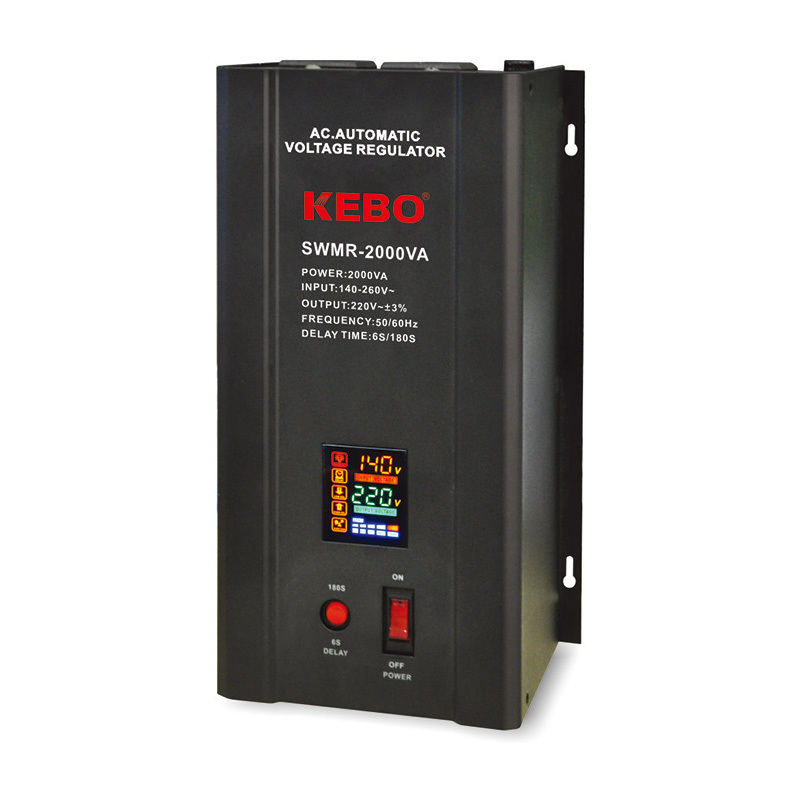 single phase servo voltage stabilizer wallmount servo stabilizer KEBO Brand