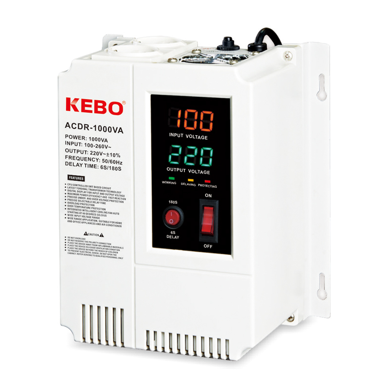 Wall Mounted Relay Type ACDR 0.5K-10KVA Voltage Regulator with Plastic Case