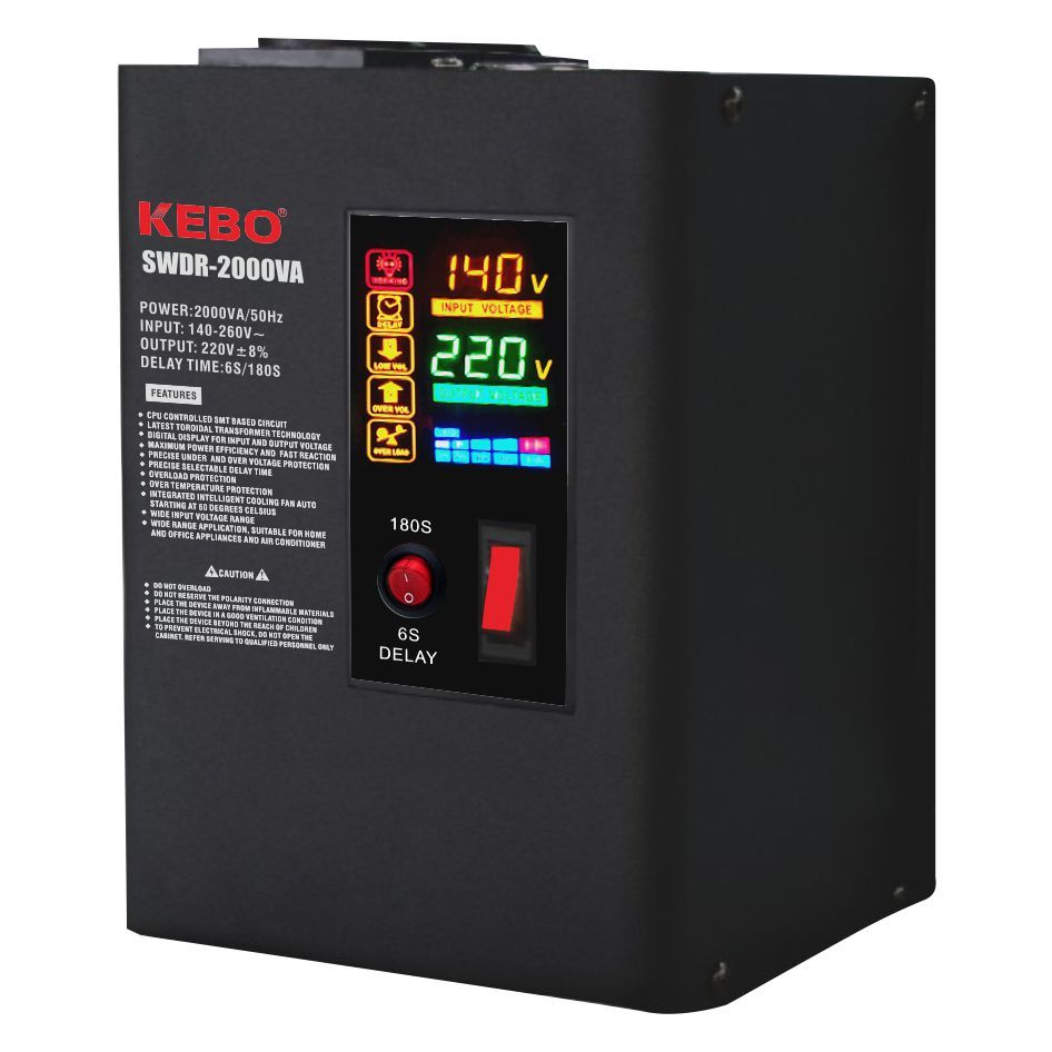 Wall Mounted Metal Case Power Voltage Regulator SWDR series with CPU Control Circuit